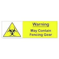 Biohazard Fencing Gear Bumper Bumper Sticker
