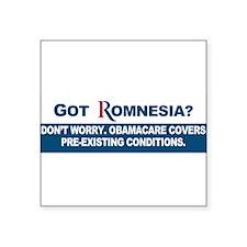 """Unique Obama campaign 2012 Square Sticker 3"""" x 3"""""""