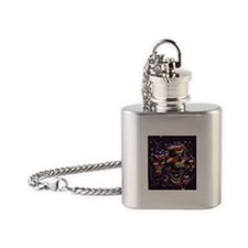 Cute Skull Flask Necklace