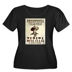 Viva Zapata! Women's Plus Size Scoop Neck Dark T-S