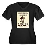 Viva Zapata! Women's Plus Size V-Neck Dark T-Shirt