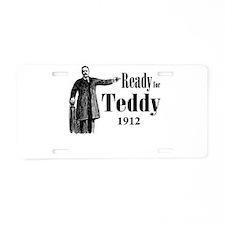 Cute Teddy roosevelt Aluminum License Plate