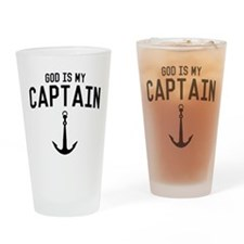God Is My Captain Drinking Glass