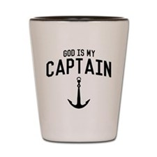 God Is My Captain Shot Glass