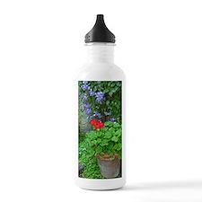 Clematis and geranium  Water Bottle