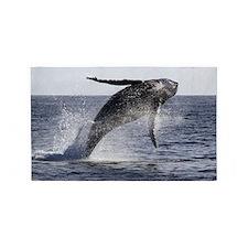 Beautiful Humpback Whale Breaching 3'x5' Area Rug