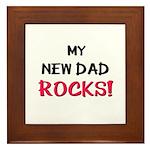 My NEW DAD ROCKS! Framed Tile