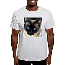 Sam the siamese cat_1crop_large T-Shirt
