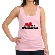 I Heart My Borador Racerback Tank Top