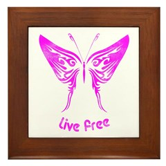 Live Free Framed Tile