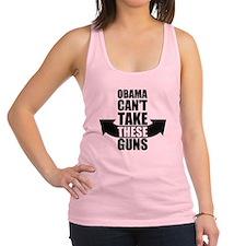 Barack Obama Can't Take These Guns Racerback Tank