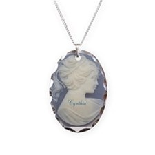Personalized Cameo Necklace Oval Charm