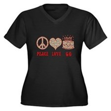 paeace, love, 60 Plus Size T-Shirt