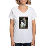 Opohelia & Tri Cavalier Women's V-Neck T-Shirt