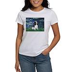 Lilies (5) & Tri Cavalier Women's T-Shirt