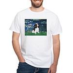 Lilies (5) & Tri Cavalier White T-Shirt