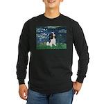 Lilies (5) & Tri Cavalier Long Sleeve Dark T-Shirt