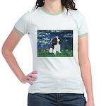 Lilies (5) & Tri Cavalier Jr. Ringer T-Shirt