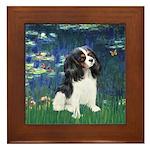 Lilies (5) & Tri Cavalier Framed Tile