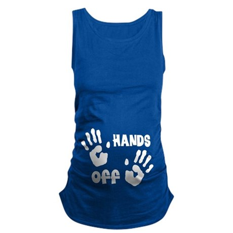 Pregnancy Humor hands off Maternity Tank Top