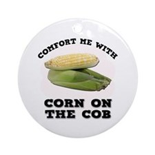 Comfort Corn On The Cob Ornament (Round)