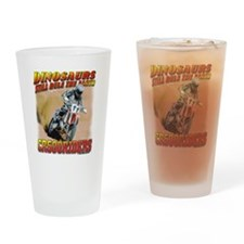 CR500Riders dino print Drinking Glass