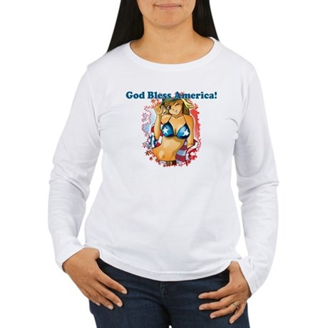 God Bless America Women's Long Sleeve T-Shirt