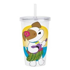 Cute Puppy Hawaii Acrylic Double-wall Tumbler