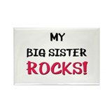 My BIG SISTER ROCKS! Rectangle Magnet
