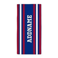 Red White Blue Sports Jersey Custom Na Beach Towel