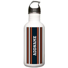 Blue and Bright Orange Water Bottle