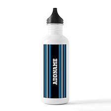 Black Blue White Silve Water Bottle