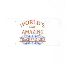 Teacher's Aide Aluminum License Plate
