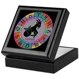 Capricorn the Goat Keepsake Box