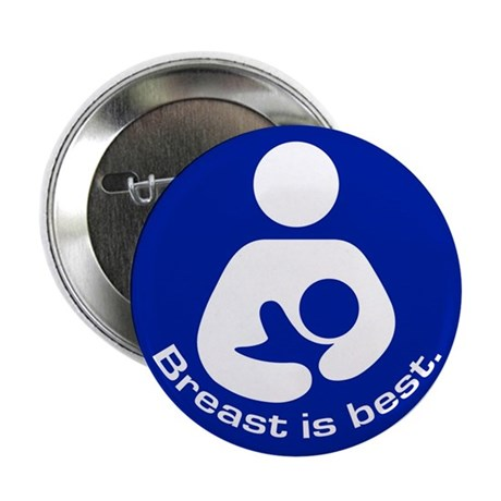 "Breastfeeding: Breast Is Best 2.25"" Button (10 pac"