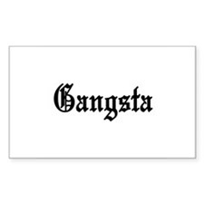 Gangsta Rectangle Decal