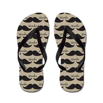 Mustache Vintage Retro Flip Flops