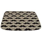 Mustache Vintage Retro Bathmat