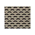 Mustache Vintage Retro Throw Blanket