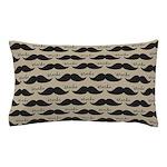 Mustache Vintage Retro Pillow Case