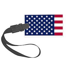 Patriotic American Flag Luggage Tag