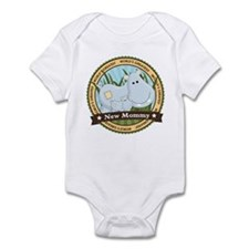 New Mom Hippo Infant Bodysuit