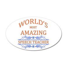 Speech Teacher 20x12 Oval Wall Decal