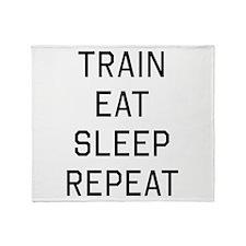 Train eat sleep repeat Throw Blanket