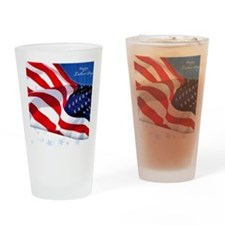 Labor Day Drinking Glass