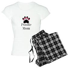 Poodle Mom Paw Print Pajamas
