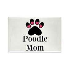 Poodle Mom Paw Print Magnets