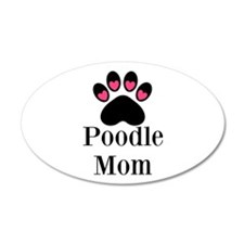 Poodle Mom Paw Print Wall Decal