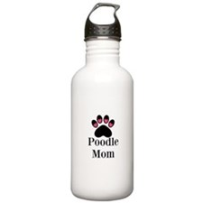Poodle Mom Paw Print Water Bottle