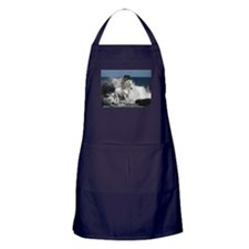 Cute White horse Apron (dark)